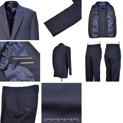 【春夏物】Franco Valentino シングル2つボタン美脚2パンツスーツ