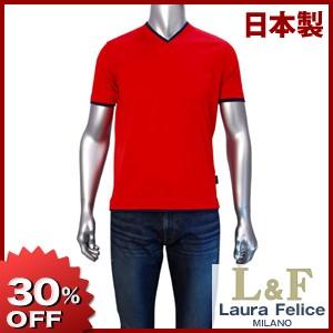 【春夏物】Laura Felice 半袖VネックTシャツ