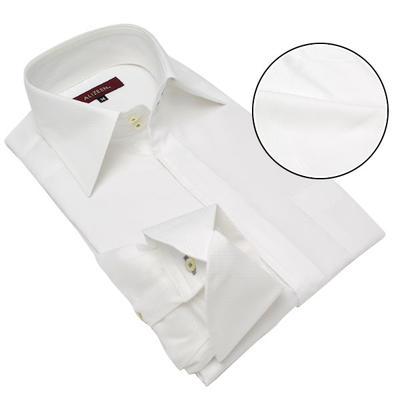 Agis M&R セミワイドドゥエボットーニ ヒヨク ドレスシャツ/Yシャツ