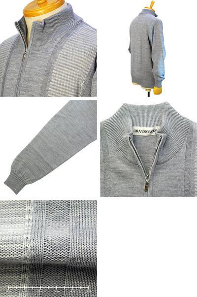 【秋冬物】GRANSIGNORE ZIPアップセーター