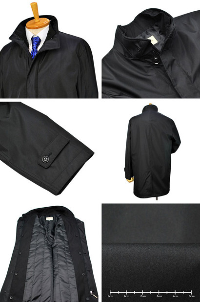 Agis M&R 2枚衿スタンドカラー ハーフコート