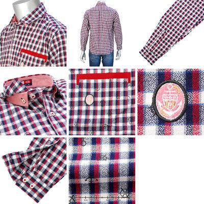 【秋冬物】PAGELOダブルカラーカジュアルボタンダウンチェックシャツ