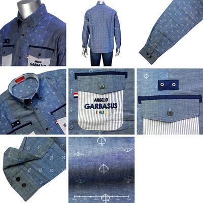 【春夏物】ANGELO GARBASUS マイターボタンダウンカラーカジュアルシャツ