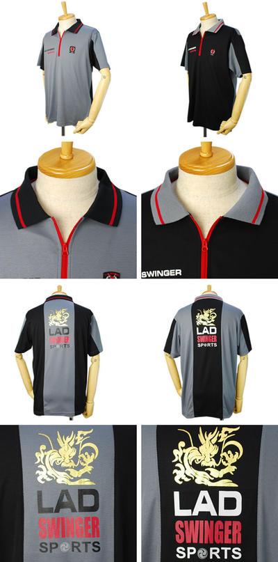 【春夏物】LAD SWINGER SPORTS ハーフジップシャツ ゴルフウェア