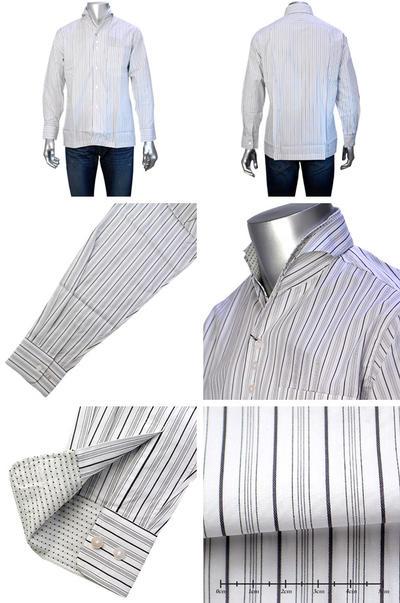 LAZY HILLS イタリアンカラー二重衿シャツ
