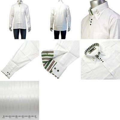 【春夏物】LAZY HILLS トレボットーニマイター3ボタンダウンカジュアルシャツ