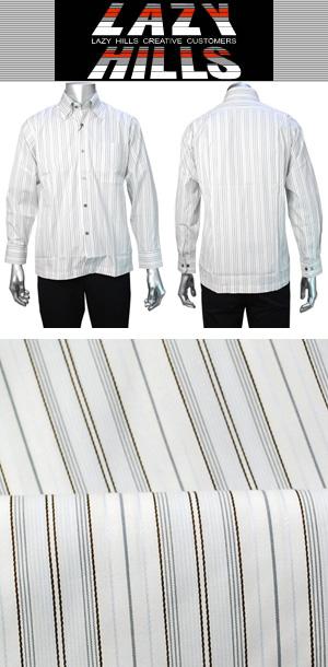LAZY HILLS 2枚衿隠しボタンダウンシャツ