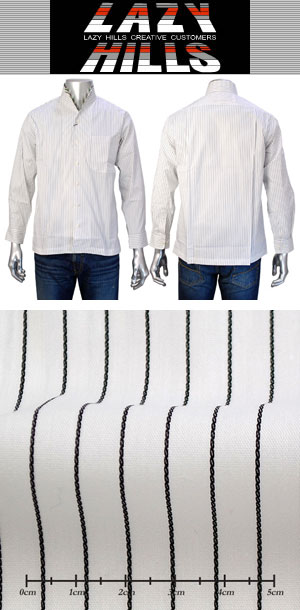 LAZY HILLS イタリアンカラーシャツ