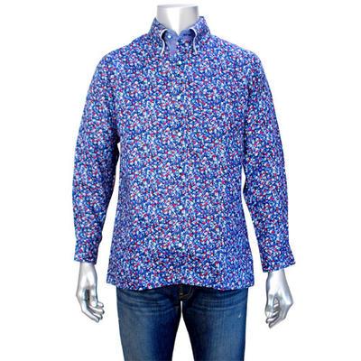 GENCAマイターボタンダウンカラーカジュアルシャツ