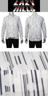 LAZY HILLS 2枚衿イタリアンスタンドカラーシャツ