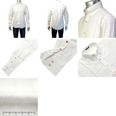 GENCA FRESCO ドゥエボットーニボタンダウンカラーカジュアルシャツ