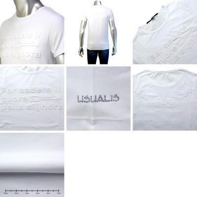 【春夏物】usualis【イタリア製】 半袖クルーネックTシャツ