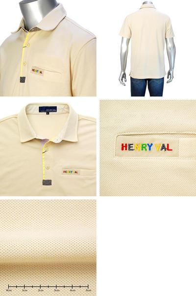 HENRY VAL 半袖ポロシャツ