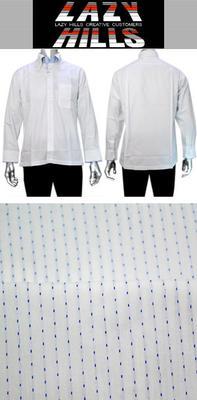 LAZY HILLS 2枚衿トレボットーニ サイドボタンダウンシャツ