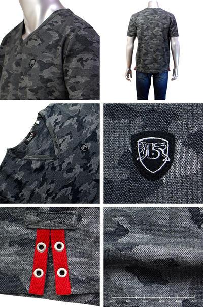 【春夏物】barassi MILANO VネックTシャツ3L