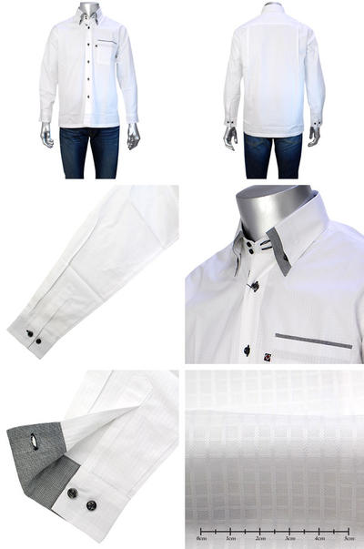 OR CLUB ドゥエマイターボタンダウンカラーシャツ
