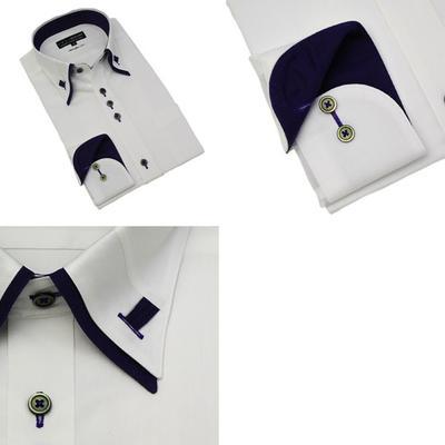 CRES Xe:com  ループ式マイターカラー ボタンダウンドレスシャツ/Yシャツ