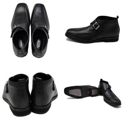 Bespoke Tailor GUY 本革 革靴 ビジネスシューズ レザー 透湿防水 消臭抗菌 衝撃吸収 モンクストラップ スクエアトゥ メンズ