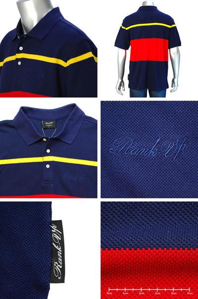 RANK-UP 半袖ポロシャツ