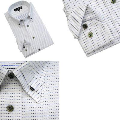 【綿100%日本製】 CRES Xe:com マイターカラーボタンダウンドレスシャツ