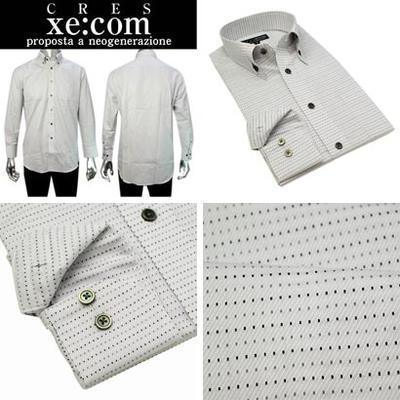 CRES Xe:com  マイターカラーボタンダウンドレスシャツ/Yシャツ