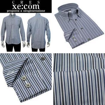 CRES Xe:com  ループマイターカラー ボタンダウンドレスシャツ/Yシャツ