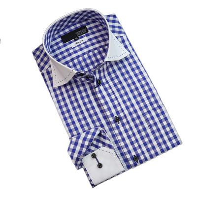 JOVIAL RUSH クレリックワイドスプレッドドゥエボットーニボタンダウンドレスシャツ