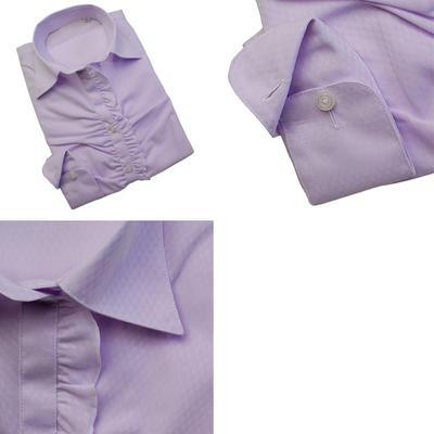 【レギュラーシルエット】Bespoke Tailor GUY レディース スキッパーカラードレスシャツ ブラウス