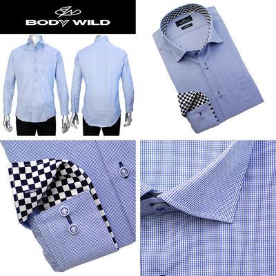 BODY WILD ワイドスプレッドカラードレスシャツ/Yシャツ