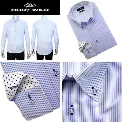 BODY WILD ボタンダウンカラードレスシャツ/Yシャツ