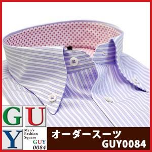 【やや細身シルエット】Bespoke Tailor GUY ボタンダウンカラードレスシャツ/Yシャツ
