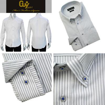 Bespoke Tailor GUY マイターボタンダウンカラードレスシャツ Yシャツ
