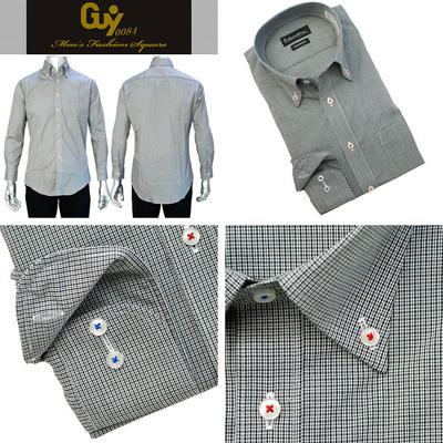 Bespoke Tailor GUY ボタンダウンカラードレスシャツ Yシャツ