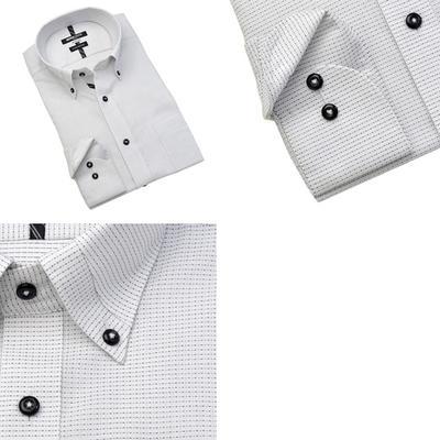 MICHIKO LONDON KOSHINO マイターカラーボタンダウンドレスシャツ/Yシャツ