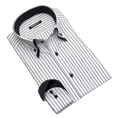 【制菌加工】MICHIKO LONDON KOSHINO マイターカラーボタンダウンドレスシャツ/Yシャツ