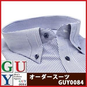 【5Lサイズ】Bespoke Tailor GUY マイターカラーボタンダウンドレスシャツ/Yシャツ