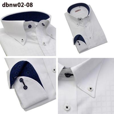 Bespoke Tailor GUYマイターカラー ワイドカラー ボタンダウン ドレスシャツ/Yシャツ