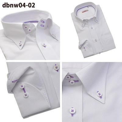 Bespoke Tailor GUYドゥエボットーニ ワイドカラー ボタンダウン ドレスシャツ/Yシャツ