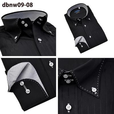 Bespoke Tailor GUYマイターカラー ドゥエボットーニ トレボットーニ ボタンダウン ドレスシャツ/Yシャツ