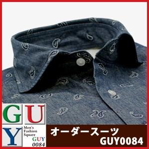 【短尺シャツ】Bespoke Tailor GUY ワイドスプレッドカラードレスシャツ/Yシャツ