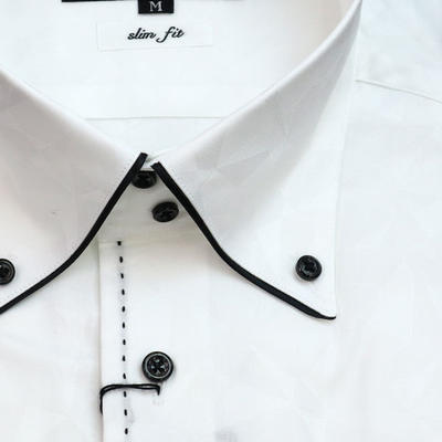 JOVIAL RUSH ドゥエボットーニボタンダウンドレスシャツ