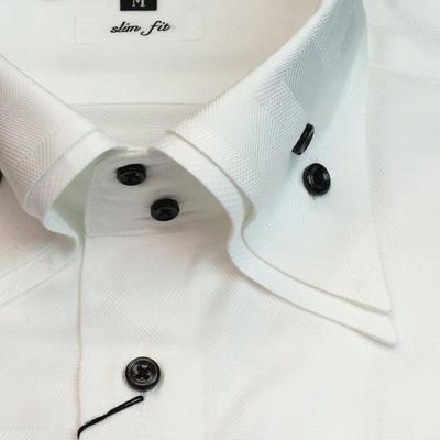 JOVIAL RUSH 2枚衿ドゥエボットーニサイドボタンダウンドレスシャツ