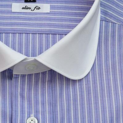 JOVIAL RUSH クレリックラウンドカラードレスシャツ