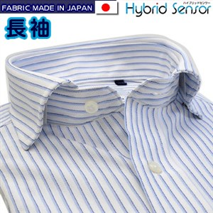 Hybrid Sensor×MUSHON ワイドカラースナップダウンニットシャツ/Yシャツ/ポロシャツ