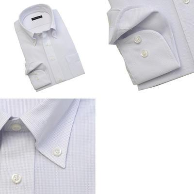 ノーアイロン0シャツ TECHNO WAVE ボタンダウンニットシャツ Yシャツ ポロシャツ