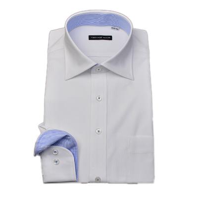 ノーアイロン0シャツ TECHNO WAVE セミワイドカラー ニットシャツ Yシャツ ポロシャツ