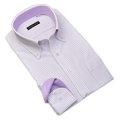 ノーアイロン0シャツ TECHNO WAVE ボタンダウン ニットシャツ Yシャツ ポロシャツ