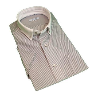 【クールビズ】ノーアイロンストレッチシャツ FLEX SHIRTS クレリックボタンダウンスポーツニットシャツ Yシャツ ポロシャツ