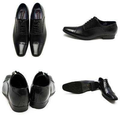 Bespoke Tailor GUY 日本製 本革 革靴 ビジネスシューズ レザー ストレートチップ スクエアトゥ メンズ